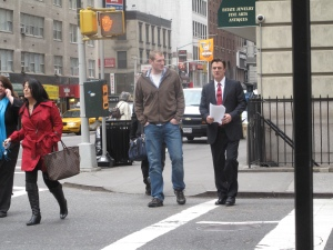 "Chris Noth: ""The Good Wife"" Filming - NYC"