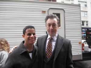 "Neal B with Alan Cumming, ""The Good Wife"" Filming - NYC"