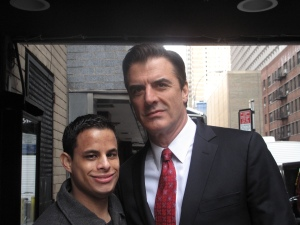 "Neal B with Chris Noth, ""The Good Wife"" Filming - NYC"