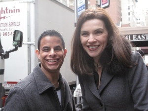 "Neal B with Julianna Margulies, ""The Good Wife"" Filming - NYC"