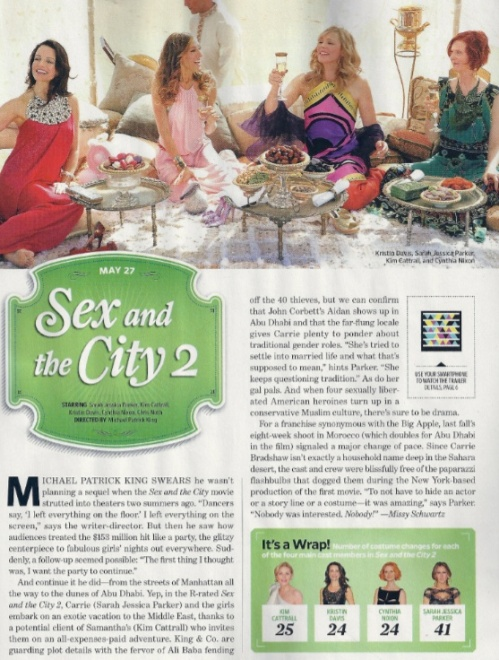 Sex and the City 2 in Entertainment Weekly