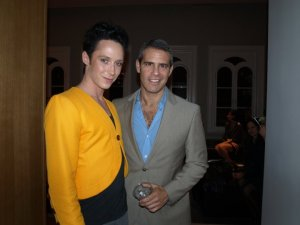 Johnny Weir and Andy Cohen