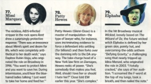 Broadway in Entertainment Weekly